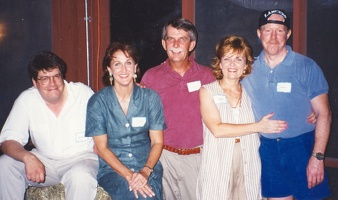 Steve Barncard, Kristy Sarazan Bruns, Fred Bruns, Diana Bruns McGuirk, and the ever loveable Jay McFadden